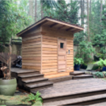 5'x7' Outdoor Pre-Fab Sauna Kit + Sloped Roof + Heater + Accessories
