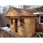 6'x7' Outdoor Pre-Fab Sauna Kit + Heater + Accessories