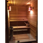 Custom Sauna All Glass Front Wall