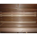 Sauna Bench Back Rest Pre Built