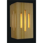 Sauna One Piece Cedar Wall Light