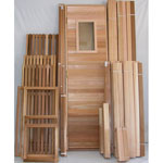 8'x8' Sauna Kit | DIY Precut + Heater Package