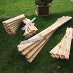 3'x7' Cedar Raised Garden Bed Kit