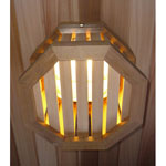 Octagonal Wooden Sauna Light Cover