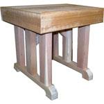 """18"""" x 18"""" Cedar Pedestal Bench"""