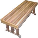 """18"""" x 60"""" Cedar Pedestal Bench"""