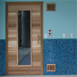 "Commercial Sauna Door + 16"" x 67"" Window"