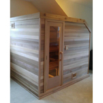 6'x7' Freestanding Pre-fab Sauna Kit + Heater + Accessories