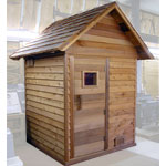 4'x4' Outdoor Sauna Kit + Heater + Accessories