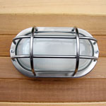 Sauna/Steam Flush Mount Marine Style Light - Stainless Steel