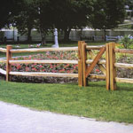 Split Cedar Fencing Rails