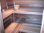 "Commercial 2""x2"" Sauna Bench 6 ft"