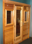 "24""x15"" Extra Windows in Prefab Sauna Wall Panels"