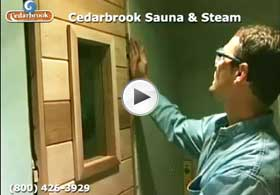 Hanging the sauna door, handles and setting the self-closing hinges