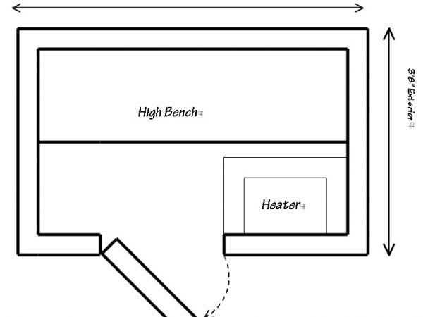 Sauna floor plans onvacations wallpaper for Sauna floor plans