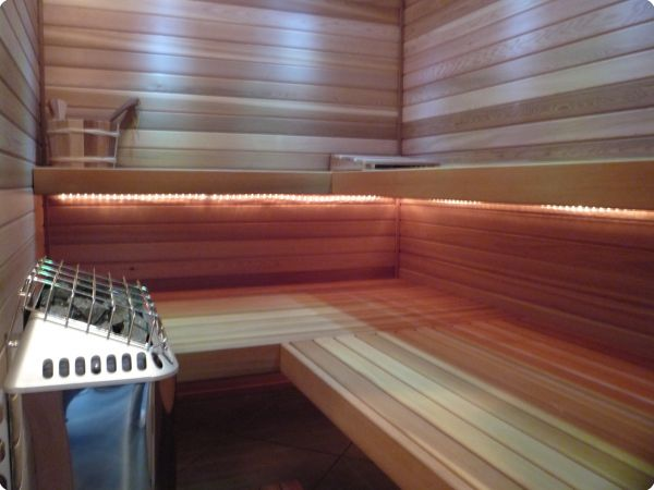 ... lighting below the sauna benches ... & Precut Indoor Saunas / Kits azcodes.com