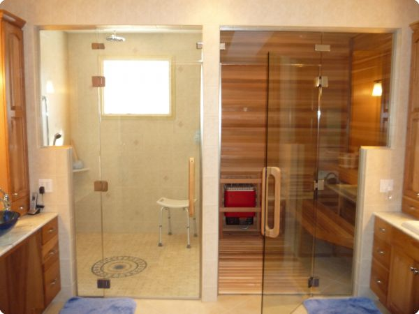... sauna with two heater set up Time to get in the sauna 4 sauna benches Long sauna benches in two sections Vertical tongue and groove on ADA sauna door ... & Precut Indoor Saunas / Kits Pezcame.Com