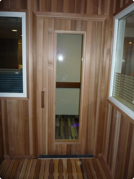 ... With Backing List Of Accessories Closet Turned Into A Sauna Sauna Was  Put In A Log Cabin 5u0027x6u0027 Home Sauna Kit With Glass Front Wall