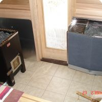 Woodburning and Electric Sauna Heater Together