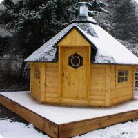 Modular Sauna With Roof Package, Arctic Grill House
