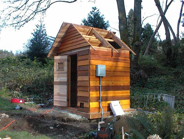 Outdoor Sauna Construction