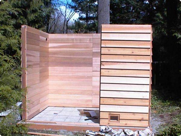 Outdoor Sauna Construction