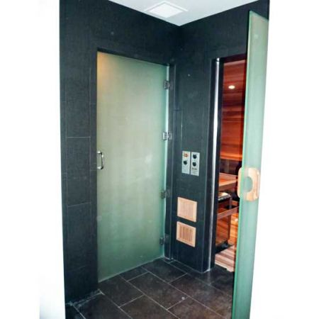 Tulalup casino sauna entry door inviting sauna etched matte finish glass planetlyrics Image collections
