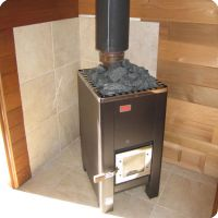 Wood burning sauna heater