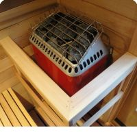 Polar heater with guard rail