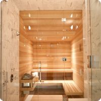 5 X6 Home Sauna Kit With Glass Front Wall