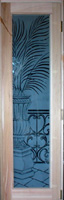 Custom door with etched art