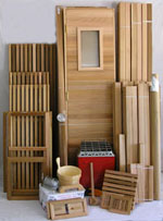 Precut you-build-it sauna room package